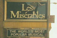 Les Miserables at the Imperial Theatre Manhattan Stock Footage