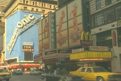 The Palace Theatre on Broadway / Times Square Stock Footage