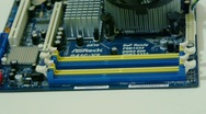 Setting up DDR 3 RAM memory to motherboard Stock Footage