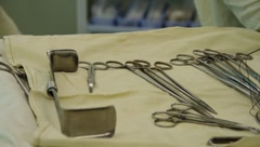 Surgeon equipment - stock footage
