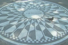 Strawberry Fields Imagine Monument - stock footage