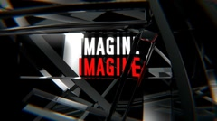 Imagine Logo (HD) Stock Footage