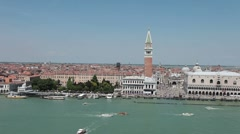 Venice From ship St Marks Square P HD 1263 Stock Footage