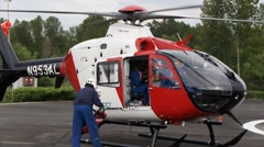 Helicopter Ambulance, Air Ambulance Stock Footage