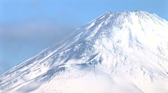Mt. Fuji snow-capped peak Time-Lapse - stock footage