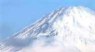 Stock Video Footage of Close up of Mt. Fuji snow-capped peak