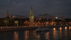 Moscow river 8 - stock footage
