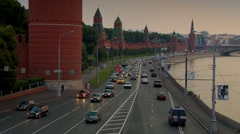 Moscow river wharf 1 Stock Footage