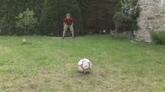 Children playing penalty shootout (soocer) Stock Footage