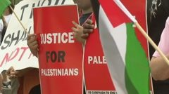 Palestinian supporters Stock Footage