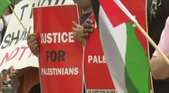 Stock Video Footage of Palestinian supporters