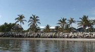 Tropical beach pan Stock Footage