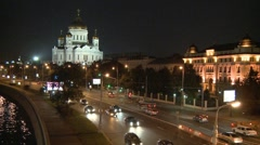 Moscow river wraft 3 - stock footage