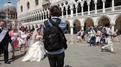 Venice Wedding St Marks Square P HD 1073 Stock Footage