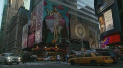 NYC traffic, poster scene Stock Footage