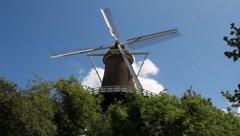 Working historic windmill medium Stock Footage