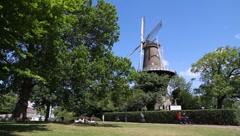Working historic windmill Longshot - stock footage