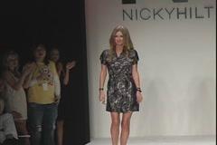 Nicky Hilton on Runway Stock Footage