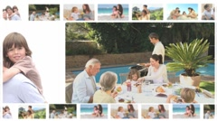 Montage of family members sharing moments together Stock Footage