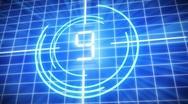 Futuristic digital countdown Stock Footage