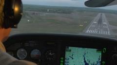 Pilot landing plane Stock Footage