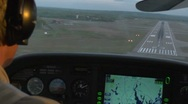 Stock Video Footage of Pilot landing plane