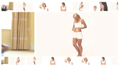 Montage of beautiful sportive women in different situations Stock Footage