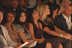 Kim Kardashian at Fashion Show Stock Footage