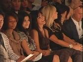Kim Kardashian at Fashion Show Stock Footage