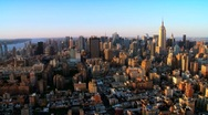 Skyline Helicopter Aerial view of Downtown Manhattan, NY, USA Stock Footage