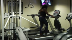 Workout room 0005D1 Stock Footage