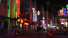 Universal City Walk - Realtime15 Stock Footage
