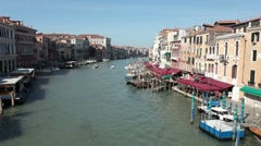 Venice Grand Canal service boats P HD 1201 Stock Footage