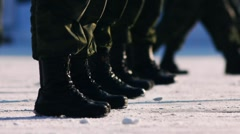 Marching 5 Stock Footage