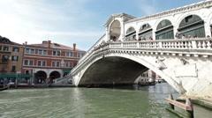 Venice Grand Canal Rialto gondola P HD 1137 Stock Footage