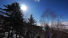 Ski landscape 2 Stock Footage