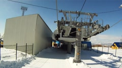 Ski lift 001 Stock Footage