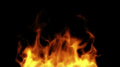 Fire with alpha - stock footage
