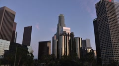 LA Downtown buildings 4th ave Wideshot Timelapse - stock footage
