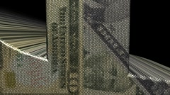 Dollar symbol with dollars mosaic currency animation Stock Footage