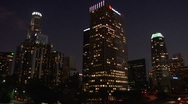 Stock Video Footage of LA Downtown buildings 4th ave Wideshot Timelapse2