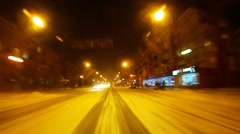Winter town TL Stock Footage