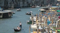 Venice grand Canal congestion P HD 9625 Stock Footage