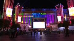 Nokia Plaza-night Time Lapse Stock Footage