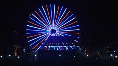 Santa Monica Pier Ferris Wheel time lapsed Stock Footage