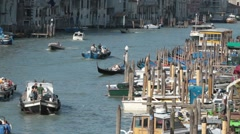 Venice Grand Canal boats fast TL P HD 9625 Stock Footage