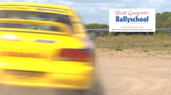 High speed Rally cornering - Subaru Impreza, lots of dust Stock Footage