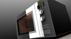 Microwave Oven Open (HD) Stock Footage