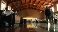 Union Station main lobby People Time Lapsed Stock Footage