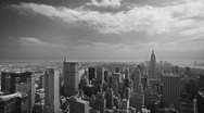 Stock Video Footage of New York City Old Film (from helicopter)